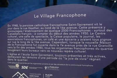 Le 30 novembre 2017, le gouvernement provincial a annoncé la publication en ligne d'une nouvelle carte relatant l'histoire de la francophonie en Colombie-Britannique